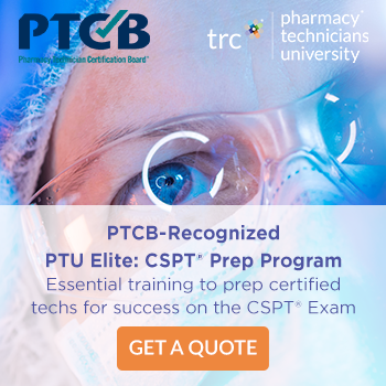 PTCB-recognized PTU Elite: CSPT Prep Program. Essential training to prep certified techs for success on the CSPT Exam. Get a Quote